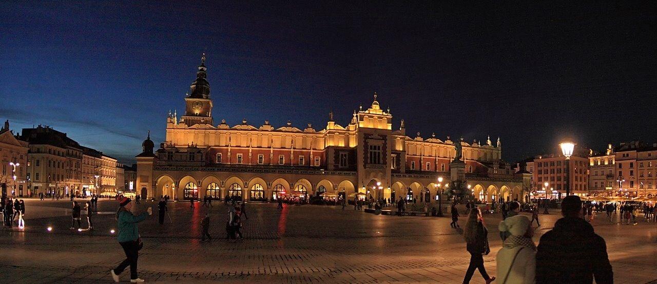 Noc na Rynku w Krakowie